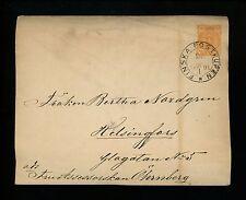 Postal History Finland H&G #B32b Postal Envelope 1892 Finska Postkupen Railroad