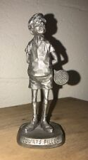 "Midcentury Philip Kraczkowski Pewter Sculpture ""Courts Filled"" Tennis Signed 6"""