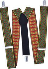 Adult Christmas Fancy Dress Accessory Suspender Elastic Deluxe Santa Braces UK