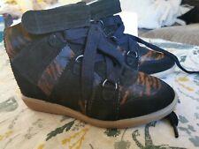 Isabel Marant Blossom Pony sobre cesta oculto Cuñas Zapatillas Zapatos UK 5 EU38