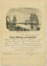 Membership Certificate to Naval Library and Institute for Lt. Cmdr. George Dewey