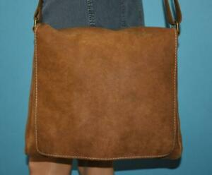 ROOTS Brown RAIDERS TRIBE Large Crossbody Messenger Bag Case $358 CANADA