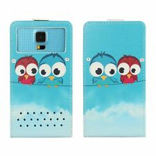 Smartphone Custodia Flip per Vodafone Smart N8-CARTOON Bird FLIP 2