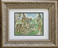 PABLO PICASSO 1962 BEAUTIFUL SIGNED  PRINT MATTED 11 X 14