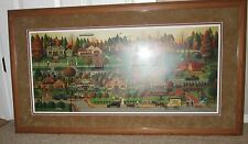 """CHARLES WYSOCKI """"LABOR DAY IN BUNGALOWVILLE"""" #193/1250,  COA  FRAMED & MATTED"""