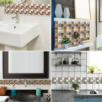18pcs Colorful 10*10cm Mosaic Waterproof Self-Adhesive Tile Sticker Wall Decor