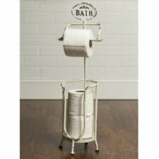 Country new Bath Tissue Stand in distressed tin