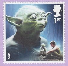 YODA STAMP STAR WARS 2015 ROYAL MAIL GREAT BRITAIN 1st CLASS NEW POSTAGE STAMP