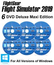 FlightGear Flight Simulator 2019 X DELUXE Edition Sim Windows 10 8.1 7 Vista PC.