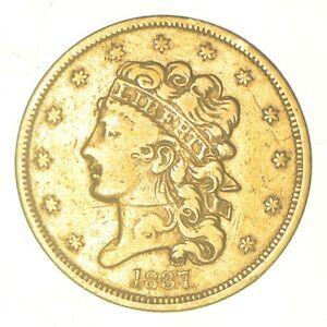 1837 $5.00 Classic Head Gold Half Eagle - No Motto *5799