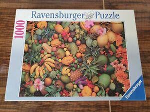 Rare Ravensburger Tropical Fruits 1000 Piece Jigsaw Puzzle 1995