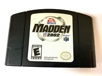 Madden NFL 2002 Nintendo 64 N64 Game Tested WORKING Authentic!