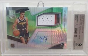 Michael Porter Jr 2018-19 Panini Spectra Neon Green Jersey Auto Rookie 39/49