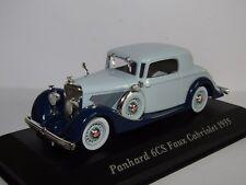 MUSEUM PANHARD 6CS FAUX CABRIOLET 1935 BLUE/BLUE 1/43