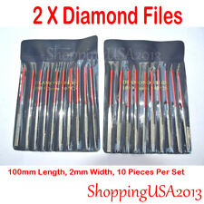 2 set 10 pcs Diamond Needle File Diamond Cutting Tool Glass Ceramic Carbide