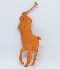 Ralph Lauren Polo logo Sew on Iron on Embroidered Patch - Orange