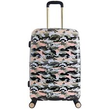 "Aimee Kestenberg Luggage 24"" Upright 8 Wheel Spinner Suitcase - Green Camo"