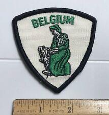 Belgium Belgian Weaver Weaving Souvenir Embroidered Patch Badge