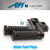 40mm Rider Extended BLACK CNC Foot Pegs Fit Buell XB12S Lightning 04 +