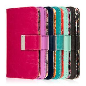 for Samsung Galaxy S6 Designer Wallet Case Wrist Strap Pocket Flip Stand Cover