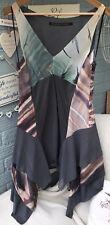 Trevor Bolongaro Gris & Multi Color Fit & Flare Vestido-UK Size Small £ 195