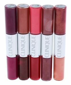 Clinique Pop Splash Lip Gloss + Hydration Duo in Each Tube X 5pc 10 Shades NIB