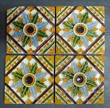 Antique Portuguese Tile Set/Floral