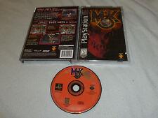 PLAYSTATION LONGBOX VIDEO GAME MORTAL KOMBAT 3 MK3 W CASE & MANUAL SONY