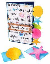 Sizzix Bigz XL Seashells& Starfish cards die #660353 Retail $39.99 WOW!!!