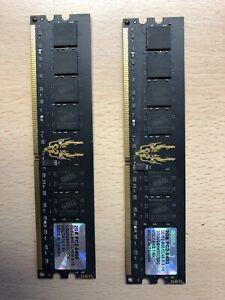 4GB 2x2GB Geil Black Dragon GB24GB6400C5DC PC2-6400 240-Pin DDR2-800 1.8V RAM