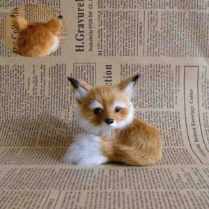1 Realistic Stuffed Animal Soft Plush Kids Toy Sitting Fox Home Decoration Small
