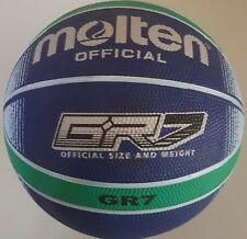 Molten BGR Premium Rubber Basketball - Blue and Green Men's Size 7 - 29.5