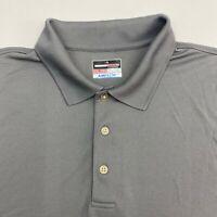 Grand Slam Performance Polo Shirt Men's Size 2XL XXL Short Sleeve Gray Airflow
