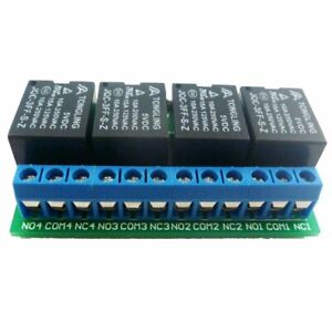 4ch 5V Flip-Flop Latch Relay Module Bistable Self-locking Electronic Switch