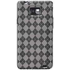 AMZER CLEAR LUXE ARGYLE TPU SOFT SKIN CASE COVER FOR SAMSUNG GALAXY S II SGHI777
