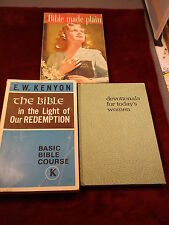 """LOT OF 3 OLD VTG BIBLE STUDY BOOKS """"MADE PLAIN"""" """"IN THE LIGHT OF OUR REDEMPTION"""""""