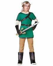 Kids Woodland Warrior Costume Halloween Fancy Dress Boys Medium 8-10 FREE SHIP