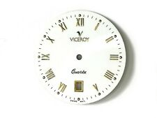 Esfera Dial VICEROY QUARTZ pieza recambio calibre ETA 955.412 dia 30mm Blanca