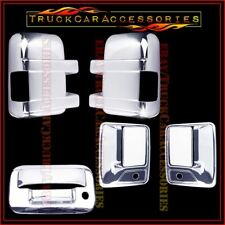 For FORD F250 F350 2008-2016 Chrome Covers Mirrors SIGNAL+2 Doors PK+Tailgate KH