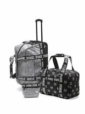 VICTORIAS SECRET PINK 3 PIECE LUGGAGE TRAVEL SET--NEW