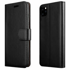 Case For iPhone 11 6S 7 8 5 SE Plus XR XS Cover Real Genuine Leather Flip Wallet