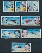 Qatar 1966 American Astronauts set of 8 IMPERF