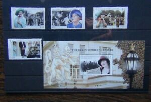 Fiji 1999 Queen Mother's Century set & Miniature Sheet MNH