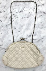 DIANA FERRARI Off-White Clutch Crossbody Bag