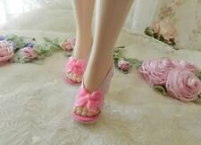 """Pink S.B.~Bright Plnk Bows High Heel Doll Shoes for 20"""" Miss Revlon, Cissy & Oth"""