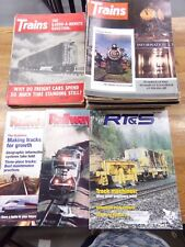 Mixed Lot of 34 Railroad Trains Magazines Back Issues From 1960's 1970's 1990's