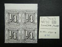 Germany 1862 1863 1865 ? Stamps MNH Block of 4 THURN AND TAXIS NORTHERN DISTRICT
