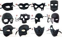 Handcut Matte Black Bat Phantom Masquerade Half Face Eye Mask Costume Prom Party