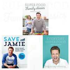 Jamie Oliver 3 Books Collection Set (Super Food Family Classics) New