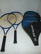 lot of 2 Dunlop Power 25 Racquets with matching cases